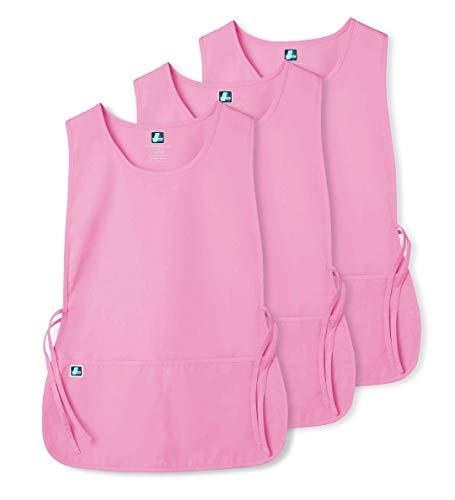 Adar (3 Pack) delantal Laboral Unisex Con Bolsillos, Para Trabajos de Belleza y Médicos - 7023 Color: SBT | Talla: Regular