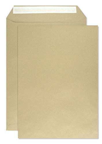 250x Braun DIN C4 Versandtaschen 229×324 mm gerade Klappe Haftklebung ohne Fenster 90g Briefumschläge in Großbrief Format C4 braun Briefkuverts C4 Geschäfts-Umschläge