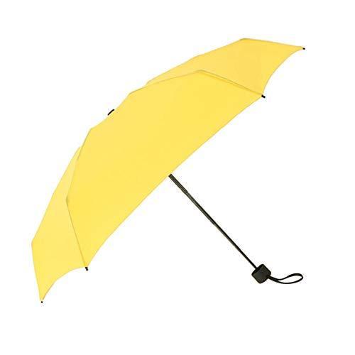 SunniMix Mini Tragbare Sonne & Regen Kompakte Outdoor Regenschirm-Compact Travel Schirme Anti-Uv für Reise Tragbare Sonnenschirm - Gelb