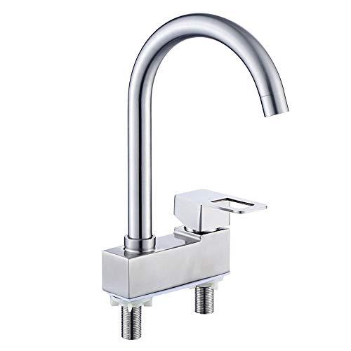 (agua) grifo; grifo; Bibcock estilo europeo hogar 304 acero inoxidable doble agujero viejo caliente y frío lavabo grifo lavabo
