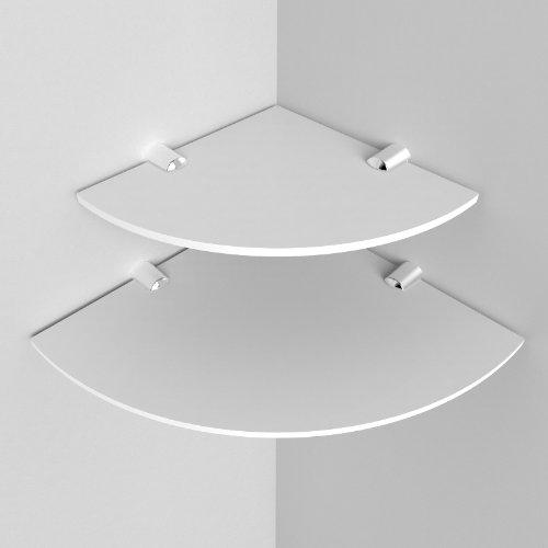 Eckregale, aus Acryl, 150mm und 200mm, 2Stück weiß
