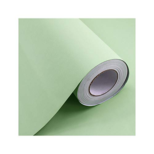TOKYMOON Klebefolie Selbstklebende Möbelfolie Modern Folie für Arbeitsplatte Wände Tür Schränke Wasserdicht 60x300cm Möbelfolie und Bastelfolien Küchenfolie (Bohnengrün)