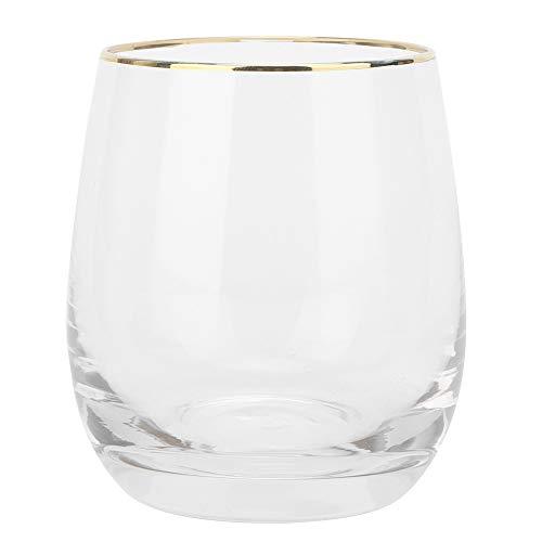 Copa de Vino sin Tallo La Copa de Agua no es fácil de Romper Copa de Agua de Cristal, Adecuada para Vino Tinto y Vino Blanco Copa de Agua, Copa de Bebida