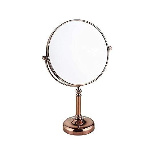 NHLBD LIHAIHAI Beautiful Fashion 8 Pulgadas de Espejos de Maquillaje afeitando Lados Dobles Espejo 1x 3X Lupa de baños giratorios de Lupa Espejo (Color : D)