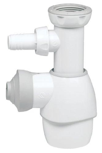 Wirquin 31190002 - Sifón universal para lavabo, color blanco y gris