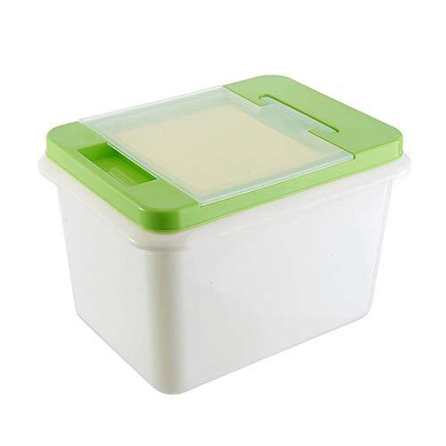 Qaz Flip ménages Riz Rangement Cuisine Plastique Riz Boîte 10 kg humidité Alimentaires Légumes Riz Stockholders Boxed Boîte de Rangement 29 * 20 * 22cm (Color : A, Size : 29 * 20 * 22cm)