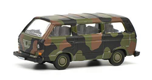 Schuco 452636600 VW T3 Bus Bundeswehr 1:87 452636600-VW, Flecktarn