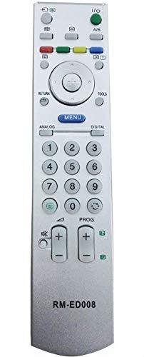 ALLIMITY RM-ED008 Mando a Distancia reemplazado por Sony Bravia LCD TV KDL-32S2510 KDL-32S2520 KDL-32S2530 KDL-32V2500 KDL-40S2510 KDL-40S2530 KDL-40T3500 KDL-40V2500 KDL-40V2900