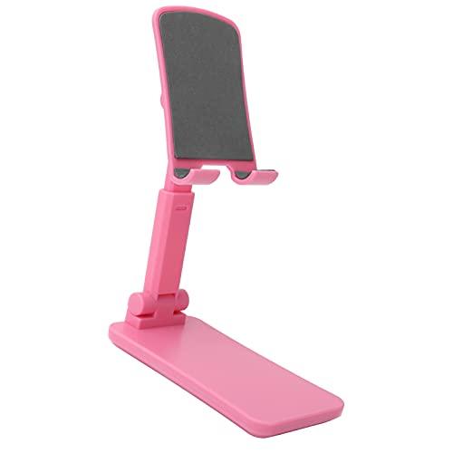 Suporte ajustável para telefone, suporte universal para tablet com montagem em telefone Suporte dobrável para armazenamento portátil para celulares e tablets menores de 12,9 pol.(Pink)