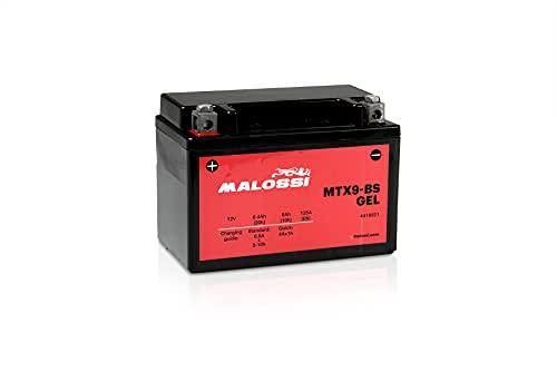Malossi - Batería de gel activada precargada, lista para su uso Malossi 12 V 8 Ah MTX9-BS Agility Plus 125 150 200 LXR 125 200 HD 125 200