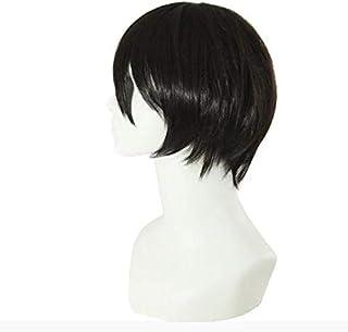 Korean lover men fluffy short black straight wig for boy