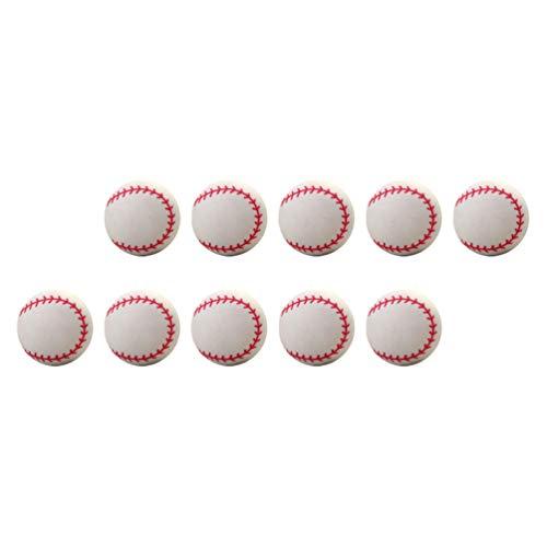 CLISPEED Pelotas de Béisbol Inflables 20 Piezas de Goma de Béisbol Bola Hinchable Relleno de Bolsas de Fiesta para Lanzar Atrapar Bateo Juegos de Interior Al Aire Libre Parque de Playa