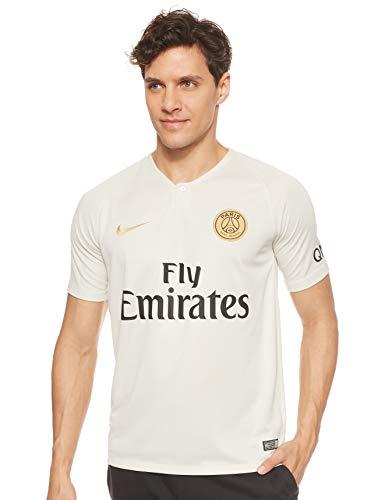 NIKE PSG M NK BRT STAD JSY SS AW T-Shirt, Hombre, Light Bone/Truly Gold, L