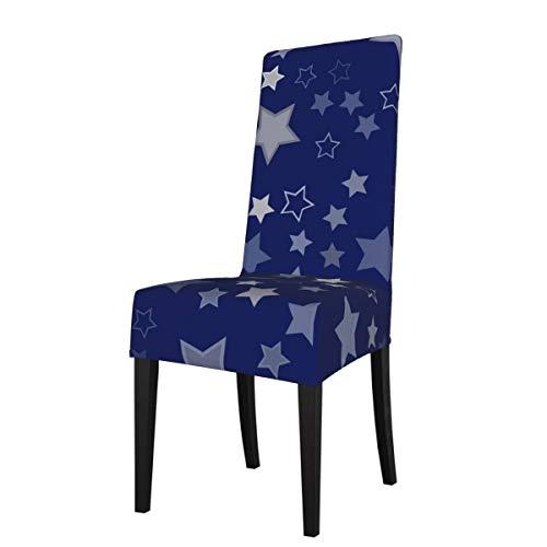 DOGPETROOM estrellas plateadas gran silla de comedor cubierta de respaldo alto para hotel fiesta boda cocina