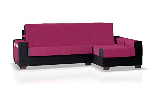 Bartali Funda de sofá Chaise Longue GEA, Brazo Derecho, Tamaño pequeño (200 Cm.), Color Fucsia