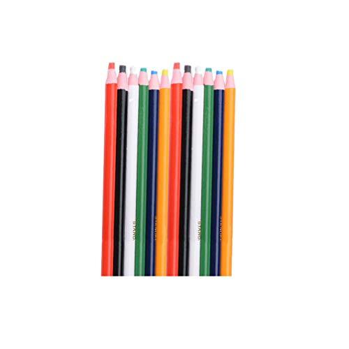 Milisten 12St Peel-Off Naaimarker Krijt Kleermakers Stof Marker Voor Naaien Quilten Crafting Begrippen Stof Markering (Mengt Kleur)