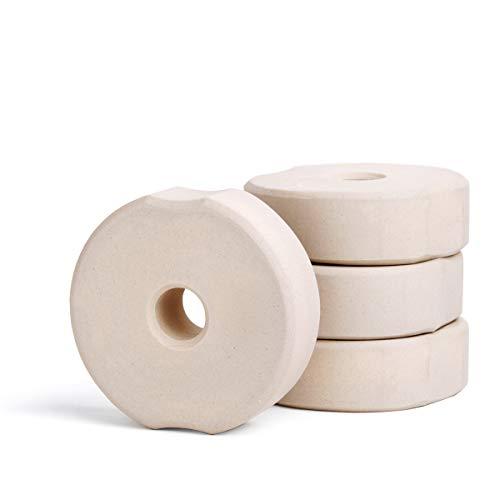 SOFTCOREFOOD Beschwerungsstein 7 cm/ - 4 STÜCK - Sauerkraut herstellen/Kimchi und Gemüse Fermentieren im 4er Pack (Beige, Keramik)