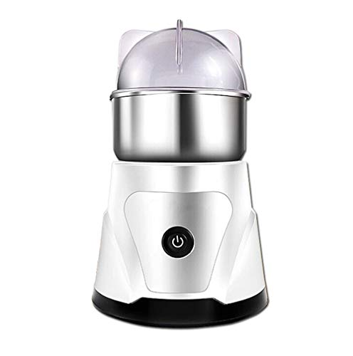ZOUSHUAIDEDIAN Electric Coffee Grinder, Spice Grinder with Stainless Steel Blade, One-Touch Control Coffee Bean Grinder for Nuts, Sugar, Grains, Clear Lid,The Best Gift for Coffee Lovers