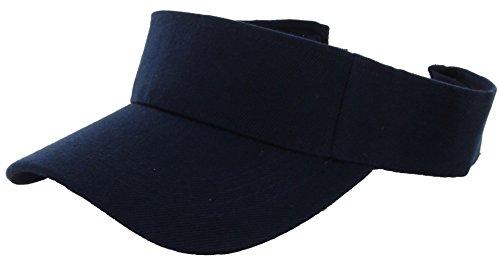 Visor Sun Hat Golf Tennis Navy Beach Adjustable Sports D309
