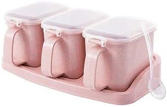 SPNEC Seasoning Box Pepper Spice Shaker Salt Seasoning Transparent PP Kitchen Cruet Condiment Bottle Jars Storage Box