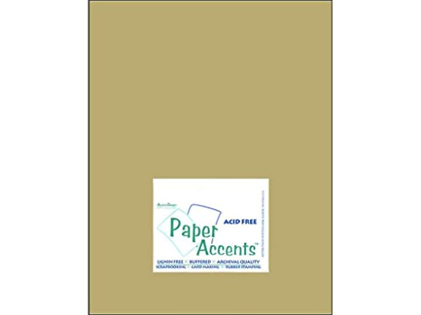 Accent Design Paper Accents Cdstk Muslin 8.5x11 74# Safari