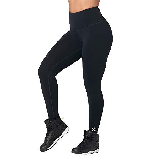 Zumba Leggings de Fitness Cintura Alta Entrenamiento Baile Compresión Pantalones Mujer, Bold Black, L