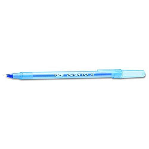 BIC Round Stic Xtra Life Ballpoint Pen, Blue