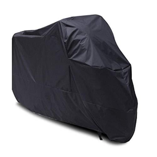 Cubierta de Motocicleta Moto Scooter Lluvia Impermeable Protector de Polvo UV para Honda Motocicley para Harley Motobike Rain Motorcycle CO (Color : Black, Size : L)