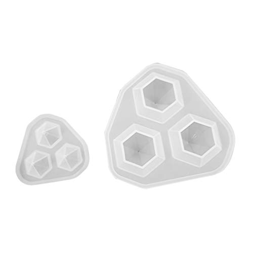 Healifty - Moldes de silicona para fundir cristales de resina, 3 moldes...