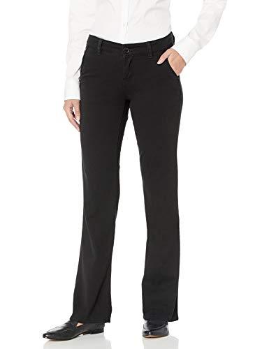 UNIONBAY womens Heather Slash Pocket Stretch Uniform Bootcut Pants, New Black, 5 US