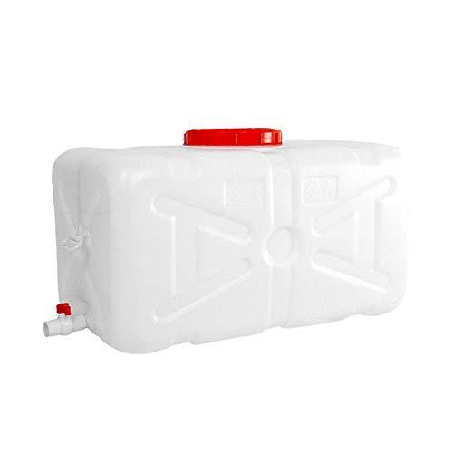 Dore Home 300L Großer Umweltschutz-Plastikeimer Horizontaler Quadratischer Wasserspeichertank Wassertank Mit Deckel Und Ventil (Size : 200L-34.3x16.5x19.3inch)