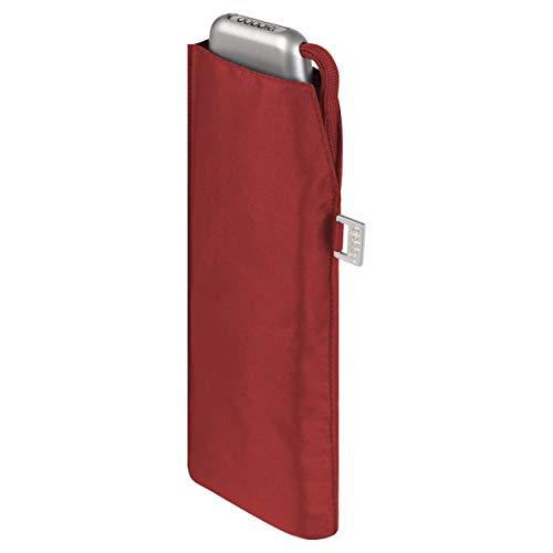 doppler Taschenschirm Carbonsteel Slim Uni – Handliches Format – Federleicht – 22 cm – Red