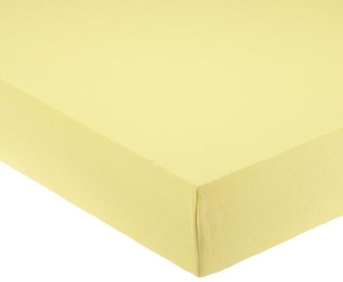 Pinolino 540004-4 - Spannbetttuch für Wiegen, Jersey, gelb