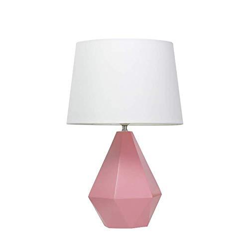 SkyHY224 Lámpara de escritorio Decoración de la sala de estar lámpara de mesa rosa lámpara de noche de dormitorio de cerámica lámpara de noche de hotel simple dormitorio creativo lámpara de estudio lá