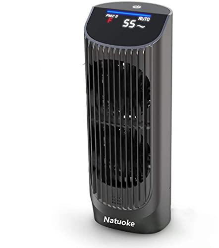 Natuoke 車載空気清浄機 イオン発生器 車用 エアクリーナー 静音 自動オフ機能 風量調節可 ホコリ除去 アレ...