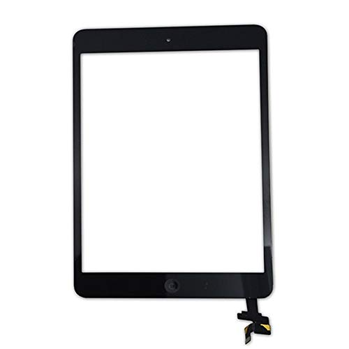 Screen replacement kit Touch Screen Digitizer Front Glass Replacement With Home Button Adhesive Camera Bracket Fit For Apple IPad Mini 1 2 A1432 Repair kit replacement screen (Color : Black)