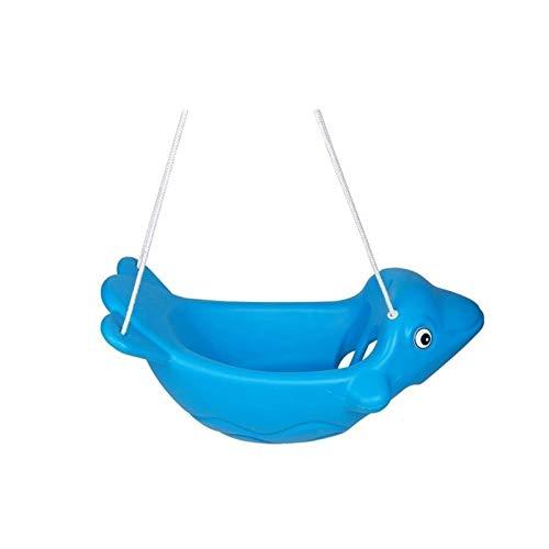 Asiento de columpio Asiento de swing para niños Forma de Dolphin Forma Fitness Game Safety Children's Swing Traje Apto para patio de juegos al aire libre interior Patio Play Carpas y juguetes preescol