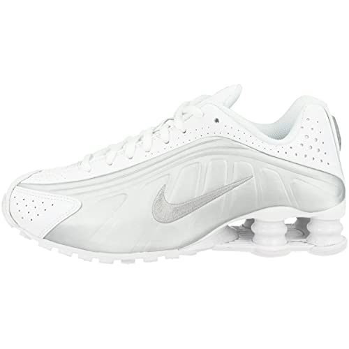 Nike Shox R4 (GS), Scarpe da Atletica Leggera Uomo, Multicolore (White/Metallic Silver/Metallic Silver 000), 38.5 EU