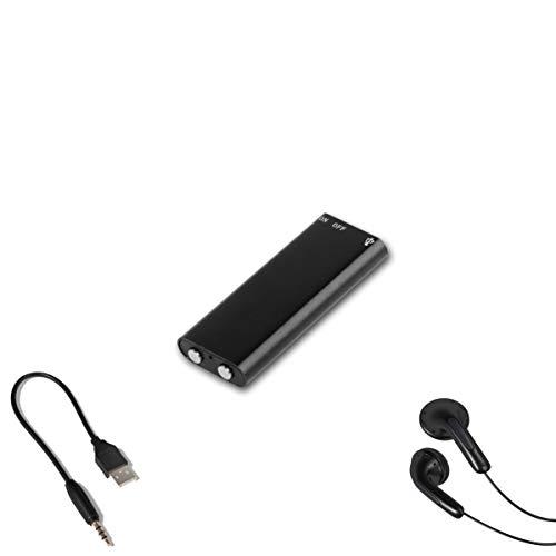 1neiSmartech Mini Rec Pro Registratore Vocale 16Gb Audio Voice Recorder Spia Ambientale Lettore Mp3 Pen Drive Con Cuffie