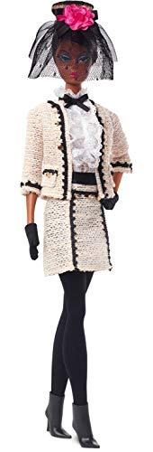 Barbie Fashion Model Collection Best to A Tea Doll, 12.5-in Signature Doll with Silkstone Body Wearing Cream-Colored Bouclé Suit, with Certificate of Authenticity