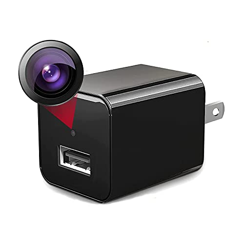 Hidden-Camera-Charger - Mini-Spy-Camera-with-Audio-and-Video - Nanny-Cam - Portable Motion Detection 1080P Small HD Secret Surveillance Camera, Can be Used in Bathroom, Home or Office