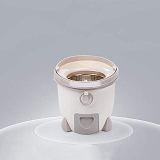 Spin MOP, Lavado De Manos Libres Hogar Automático Deshidratación Fregona Cubo con Escurridor Húmedo Seco De Doble Uso Piso Limpieza-Cremoso