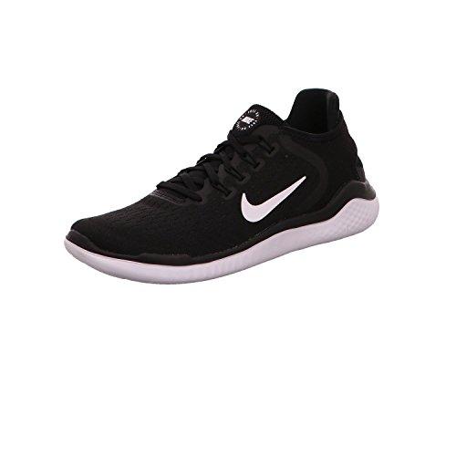 Nike Men's Free RN 2018 Nylon Running Shoes 9.5 Black/White
