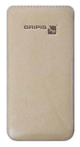 Gripis Case Slider Ledertasche Saddler Natur Beige für Samsung Galaxy S4 Mini GT-i9195