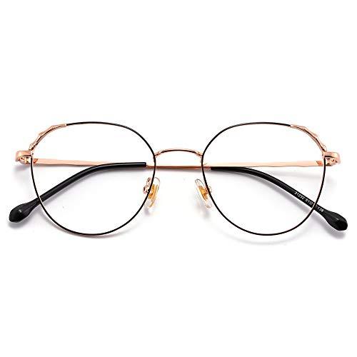 Y&J dames leesbril met Rotonda frame, Blu-Ray-bril voor dames +1,00 +1,50