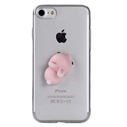 SevenPanda Squishy 3D Tier Katze iPhone 6 Hülle, Cute Stress Silikon Fun Case Cover für iPhone 6S / 6 4.7 Zoll - Hase