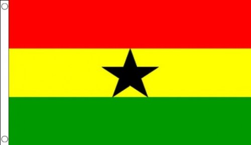 Ghana 5'x3' (150cm x 90cm) Drapeau