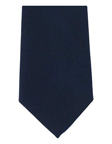 Michelsons of London Cravate bleu marine uni en soie de