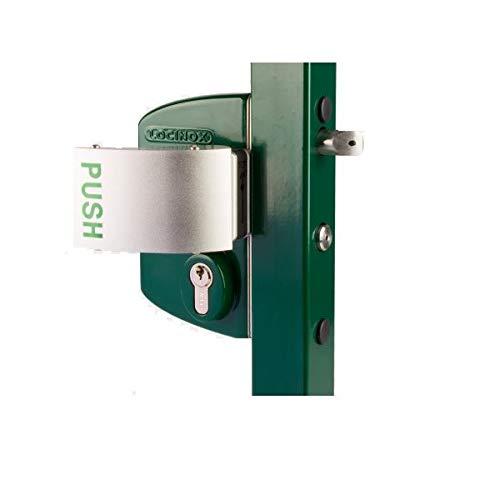 Cerradura tipo industrial antipánico, perfil cuadrado 40 mm-60 mm, cilindro que se envuelve GSX mango 3006 PUSH
