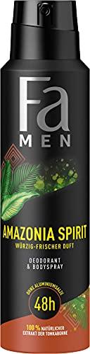 Fa Men Deodorant & Bodyspray Amazonia Spirit mit würzig-frischem Duft, 48h Schutz, 150 ml
